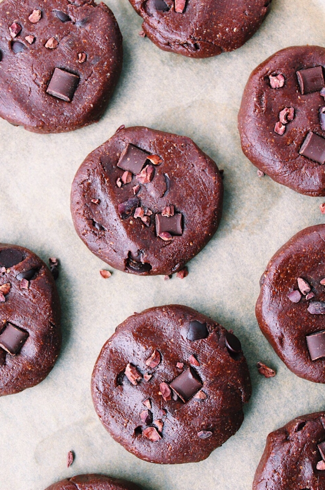 Double Chocolate Freezer Cookies